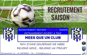 RECRUTEMENT SECTION MASCULINE SENIOR